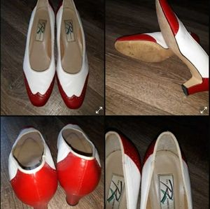 ROS Hommerson red/white shoes Sz 11W